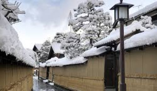 Winter Samurai district in Kanazawa city