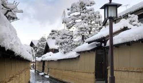 Winter Samurai district in Kanazawa city
