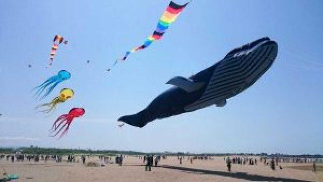 内灘町の世界凧の祭典