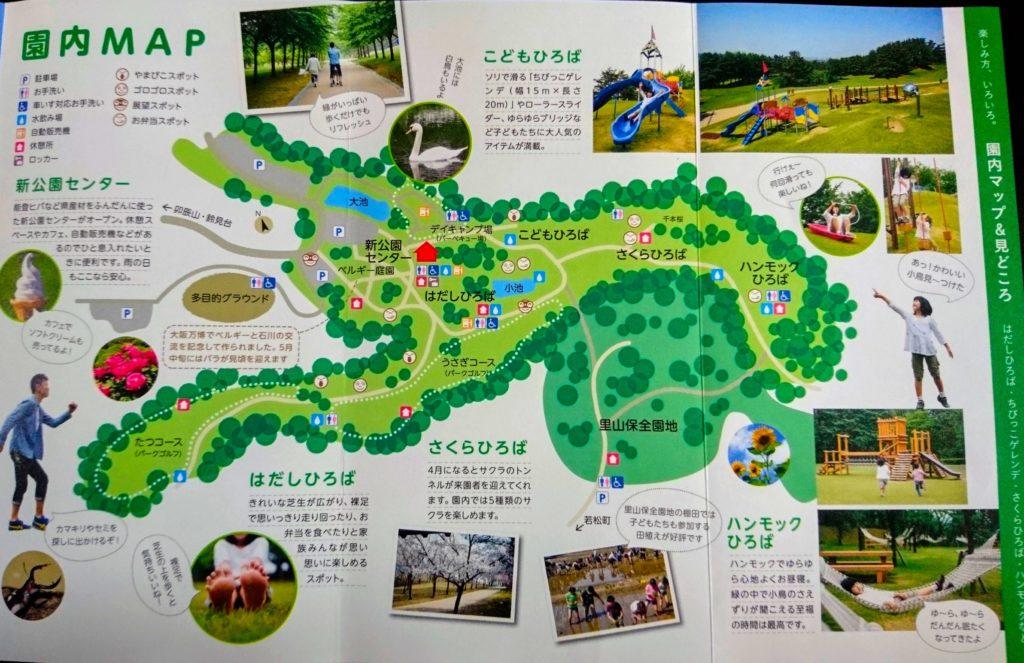 奥卯辰山園内MAP