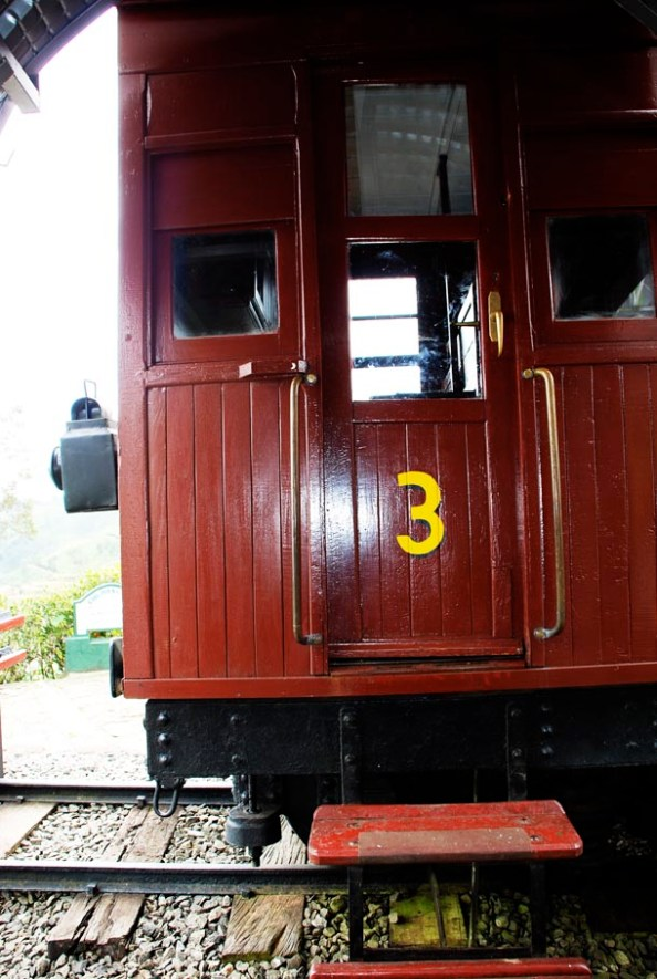 The original railway carriage which now houses the theme restaurant