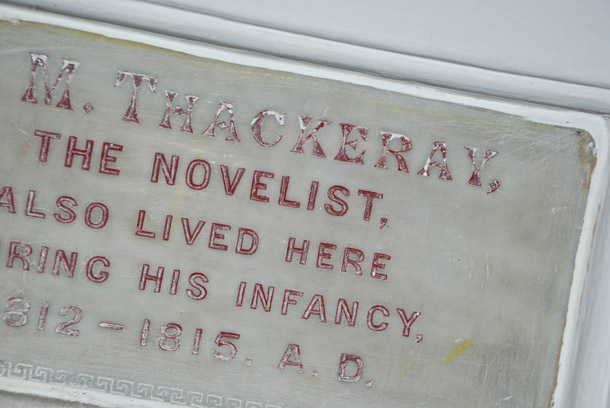 Sir William Thackeray lived in the Magistrate's House