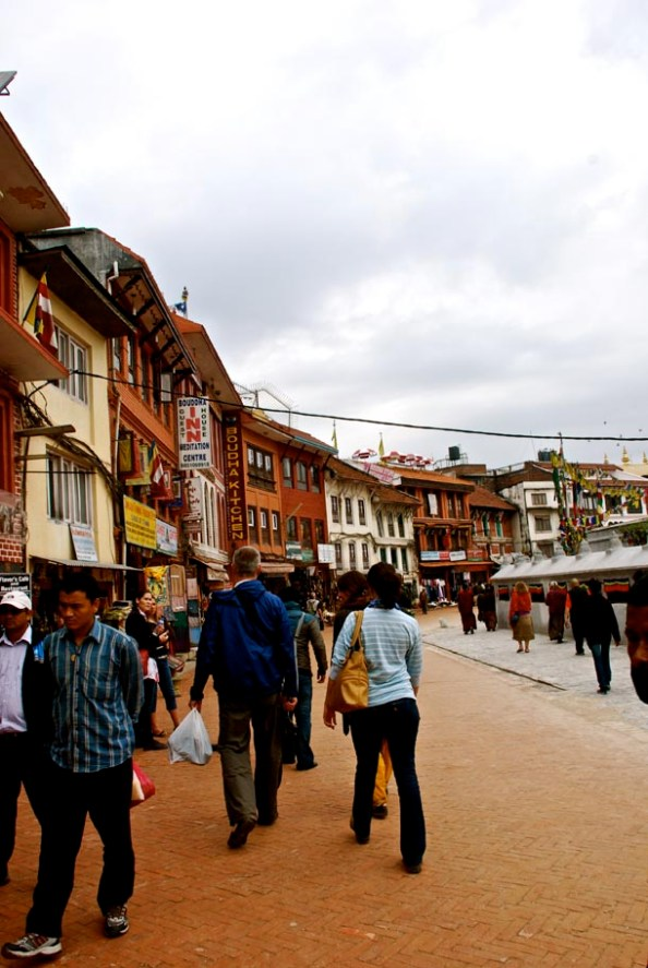 Tourists throng Boudhanath