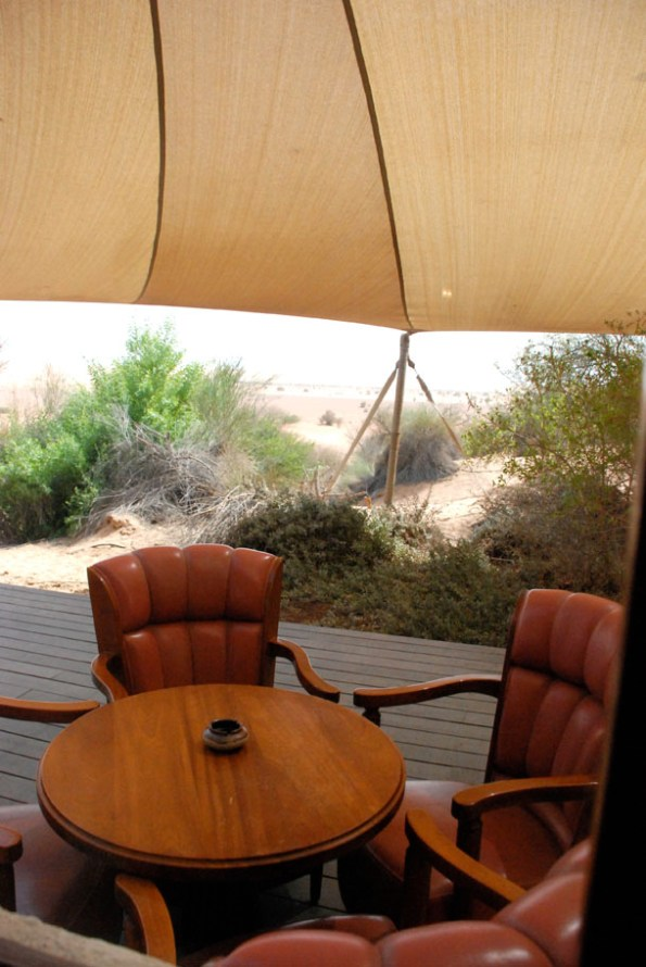 Al Diwaan terrace at Al Maha Desert Resort & Spa