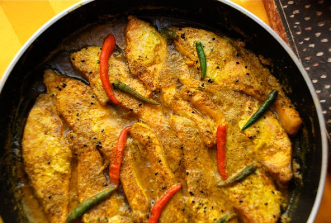 Shorshe Bata Maach or the Bengali styled Mustard Fish