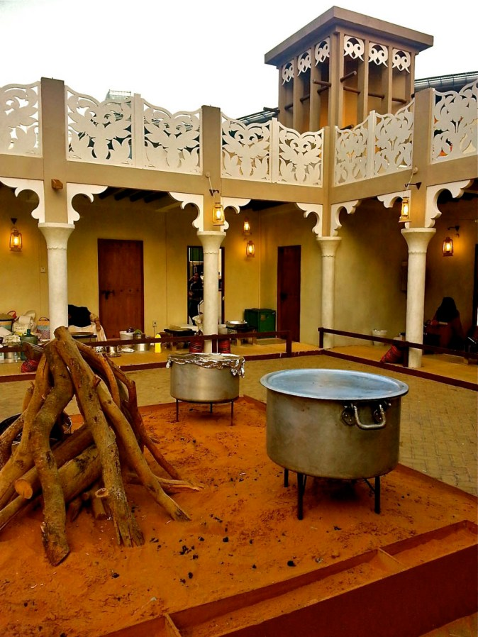 The courtyard of a traditional Emirati home