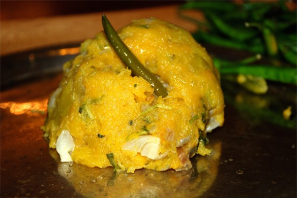 Kumro Bhaaté or Mashed Pumpkin Bengali Style And I Ask What