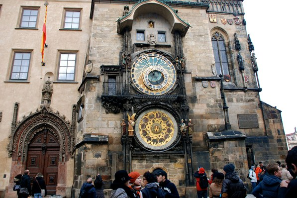 The Astronomical clock in the Old Town Square in Prague