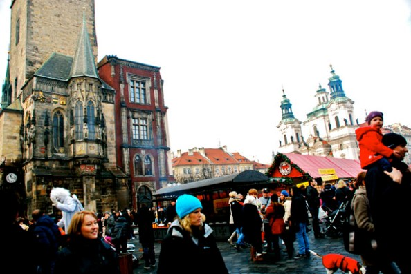 The Old Town Square in Prague during the Christmas Market