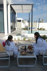 Breakfast on the sundeck, Beach retreat Villa, Zaya Nurai Island