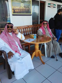 Dr Hussain Al Muttawa (left) who has a doctorate from Michigan State University, while away his time here