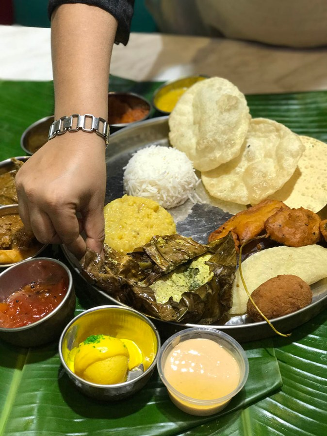 An array of traditional Bengal meal
