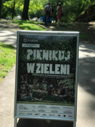 Piknikkrakowski is one of the organised Cracovian (of Cracow or Krakow) Picnics over the weekends during summers