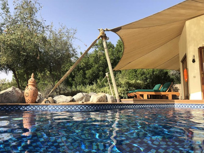 Private dip pool with Bedouine Suite in Al Maha Desert Resort
