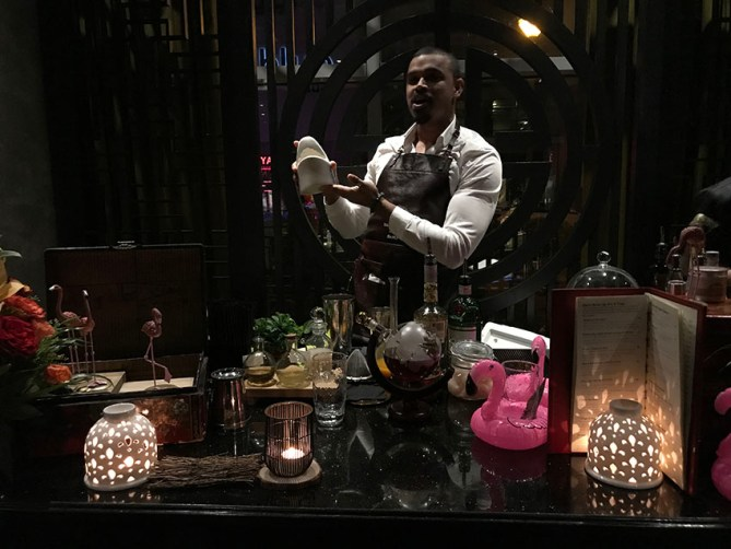 A mixology session at Buddha Bar Dubai