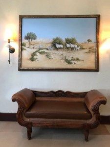The main hotel lobby inside Al Maha Desert Resort & Spa