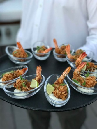 "Crunchy ""Kellogs"" Prawns with tarragon tartare sauce at Siddhartha Lounge"