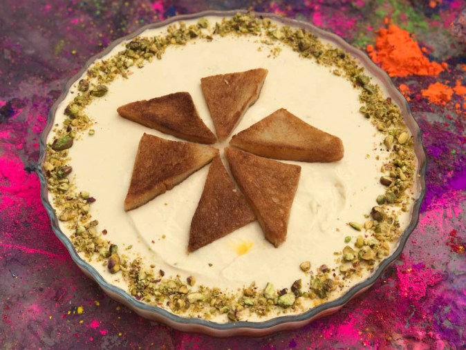 Special Dessert for Holi - Gajjar Halwa with Rabri Mousse and Shahi Tukda