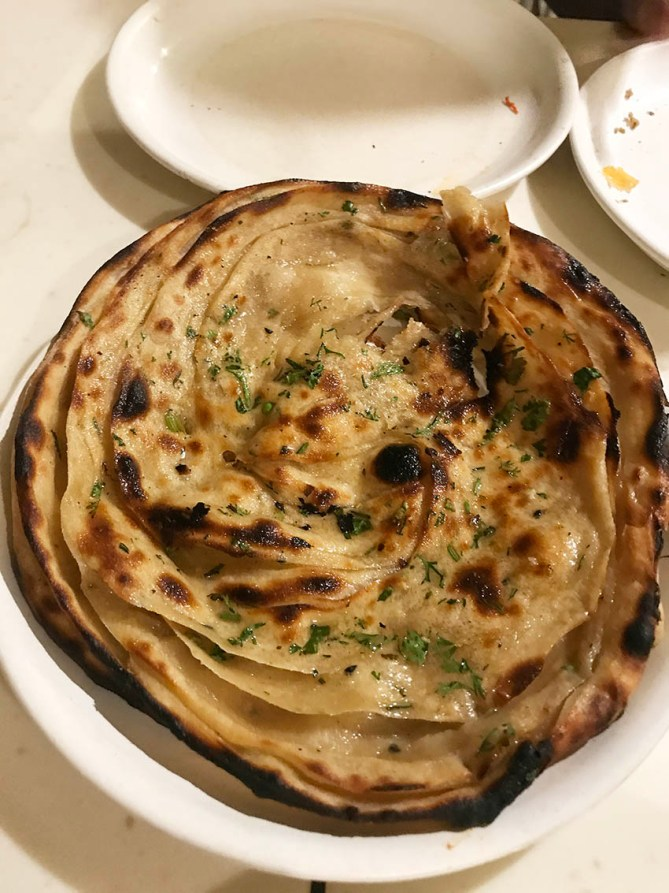 Laccha Paratha at Tunday Kabab in Aminabad