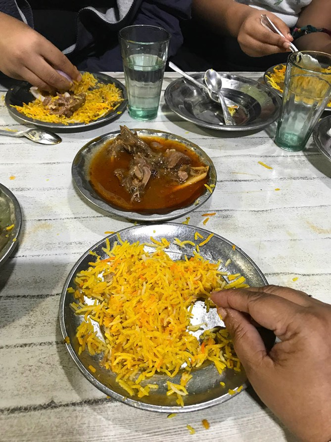 Mutton Biryani and mutton korma at Idrees Biryani in Lucknow