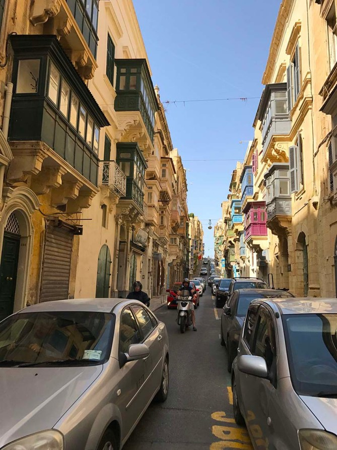 Narrow lanes in Valletta