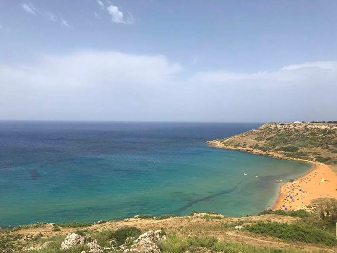 Gozo's most sought-after sandy beach, Ramla Bay.
