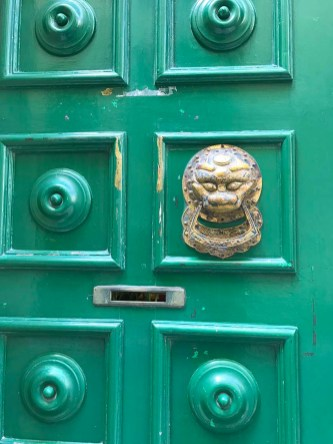 Intricate door knobs characterise houses in Valletta