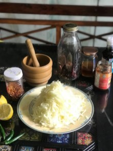 Ingredients for Thai Green Papaya Salad