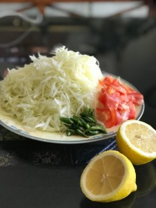 Shredded green papaya for Thai Green Papaya Salad