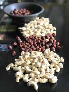 Nuts for making homemade spread
