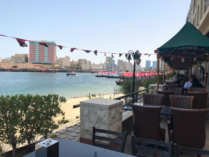 Blue Barjeel restaurant by Dubai creekside