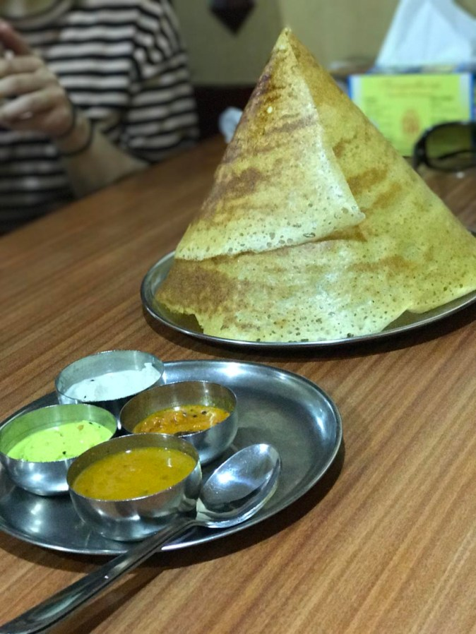 The cone shaped Topi Dosa at Sangeetha Restaurant
