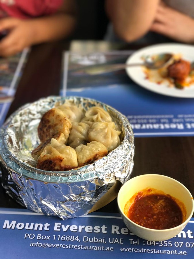 Kothey buff momo at Everest Restaurant in Bur Dubai