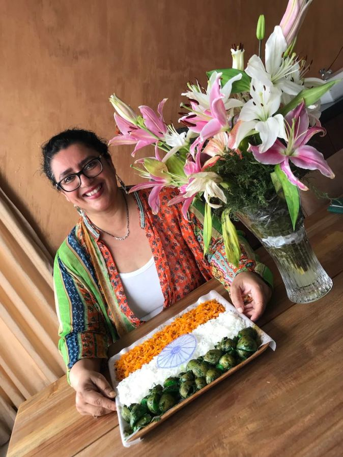 Ishita B Saha with tricoloured food to celebrate Indian Republic Day