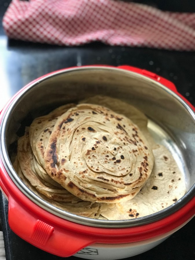 Malbari Parotta made at home