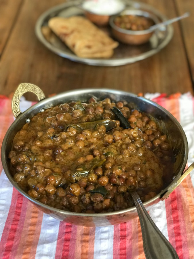 Kadala Curry, a rich Kerala style black chickpea curry