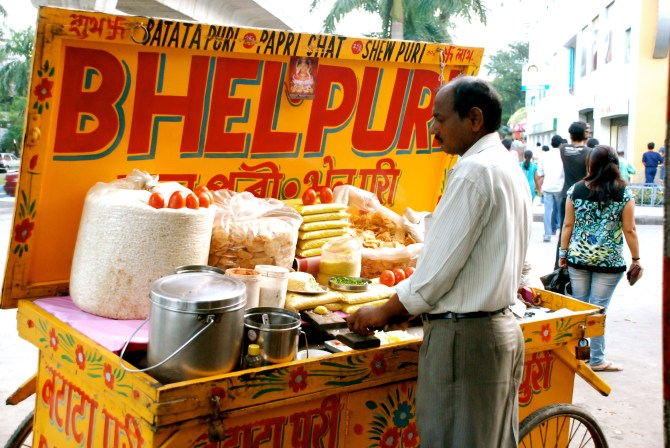Bhelpuri on the streets