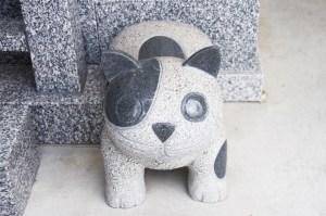 石月石材 キャラクター彫刻の例