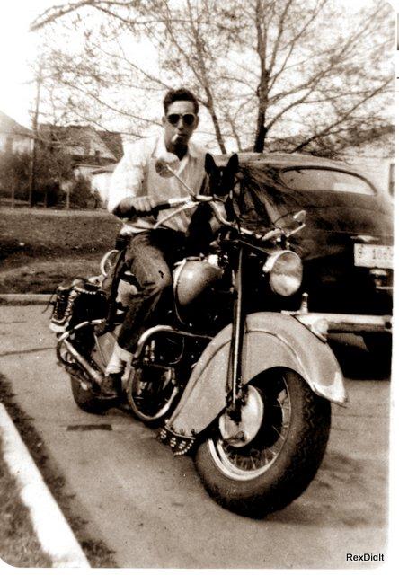sepia print motorcycle