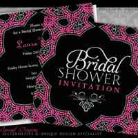 Eastern Sparkle Pink Bridal Shower | Invitations