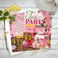Retro Vintage Tea Party Invitation