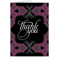 Eastern Pink Sparkle Thank You Card