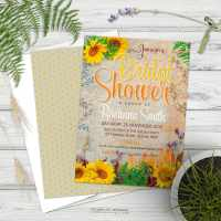 Summer Sunflowers Bridal Shower Invitation
