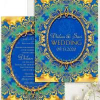 Eastern Love Indian Wedding Invitation