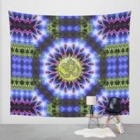 Om Shanti Fractal Geometry Wall Tapestry