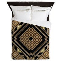 Art Deco Black Gold 1 Duvet Cover