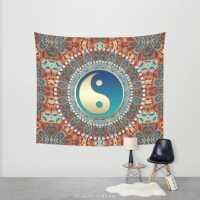 Batik Yin Yang Bohemian Wall Tapestry