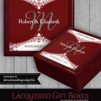 Red+White Fractal Lace Custom Gift Box
