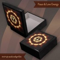 Love+Peace Light Energy Wood Gift Box