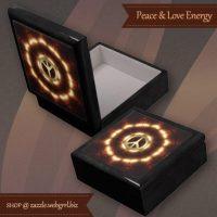 Love+Peace Light Energy Wood Gift Box